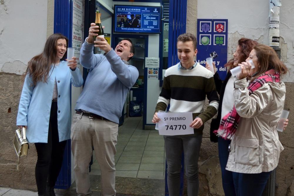 Los trabajadores de la oficina del Servicio Extremeño de Empleo (SEXPE) de Plasencia jugaban el 74.770, premiado con un quinto premio.