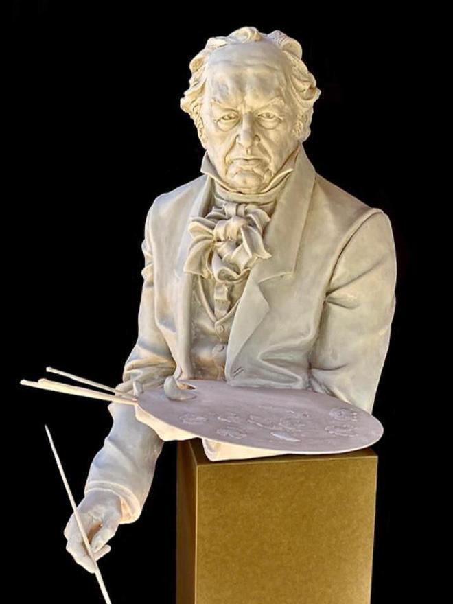 """La escultura """"Goya""""."""
