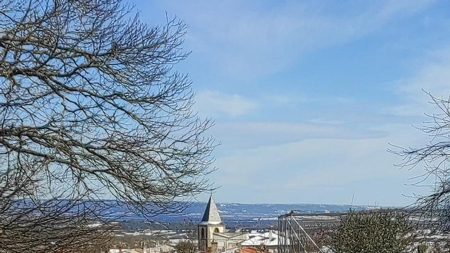 GALERÍA | La nieve del temporal Filomena llega a Aliste