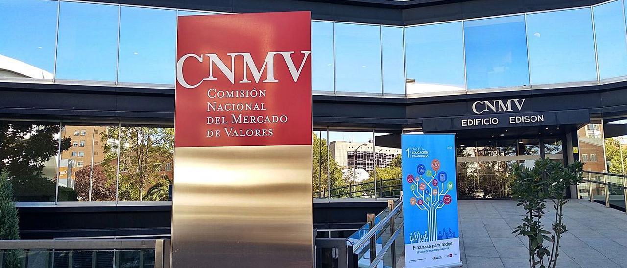 Sede principal del organismo regulador en Madrid.   E. P.