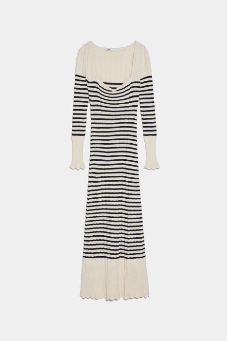 Vestido de rayas marineras de Zara. (Precio: 29,95