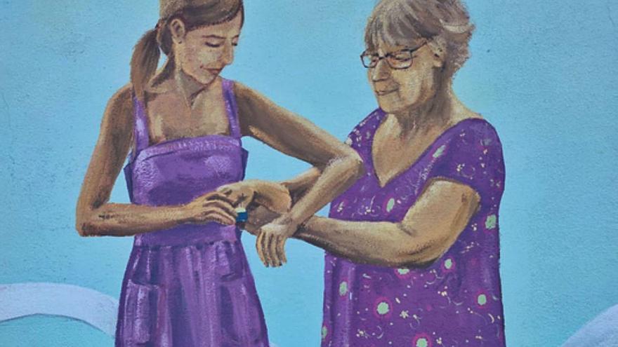 Castrogonzalo sensibiliza a la población contra la violencia de género con la realización de un simbólico mural