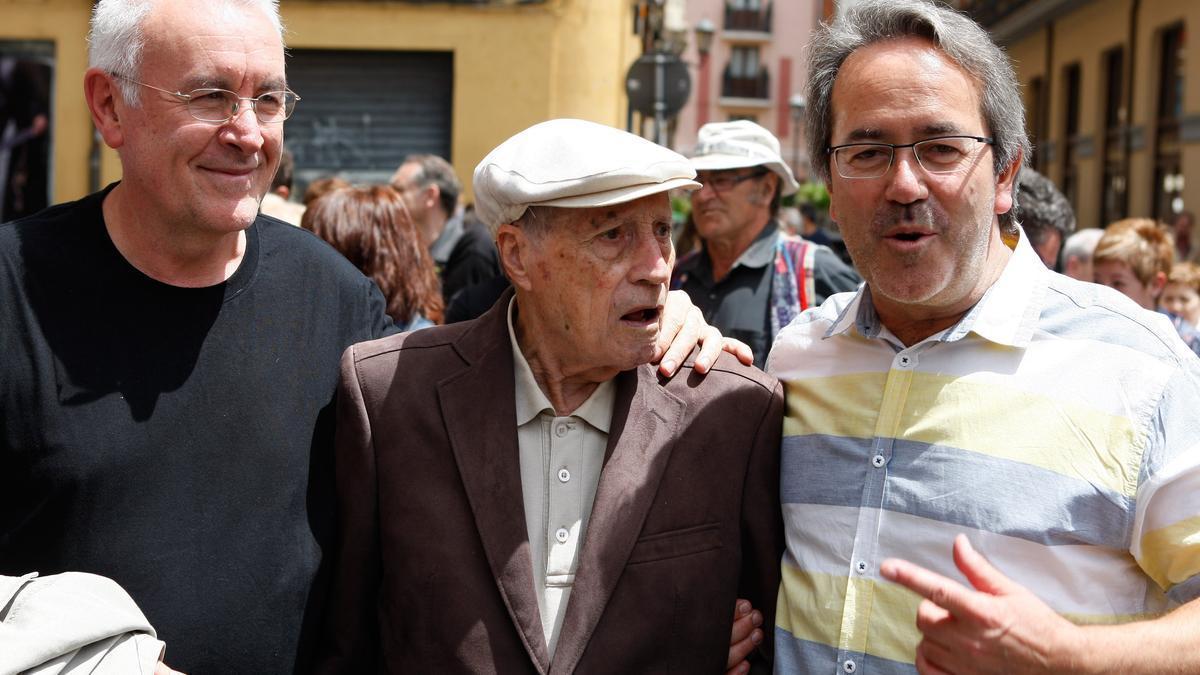 Cayo Lara, Amable García y Francisco Guarido