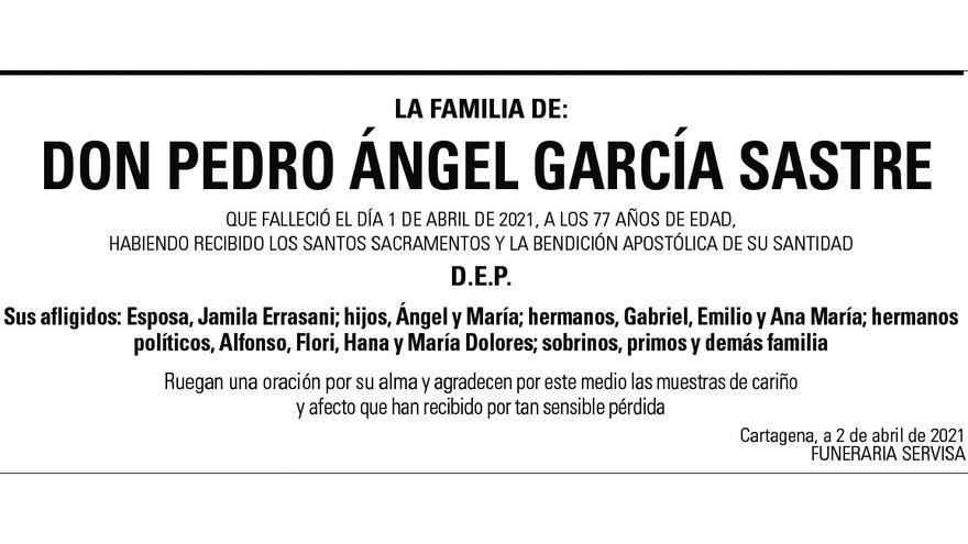 D. Pedro Ángel García Sastre