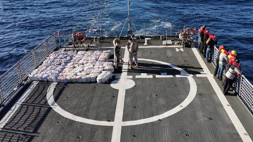 Abordaje de un barco con 3.000 kilos de cocaína en Lugo
