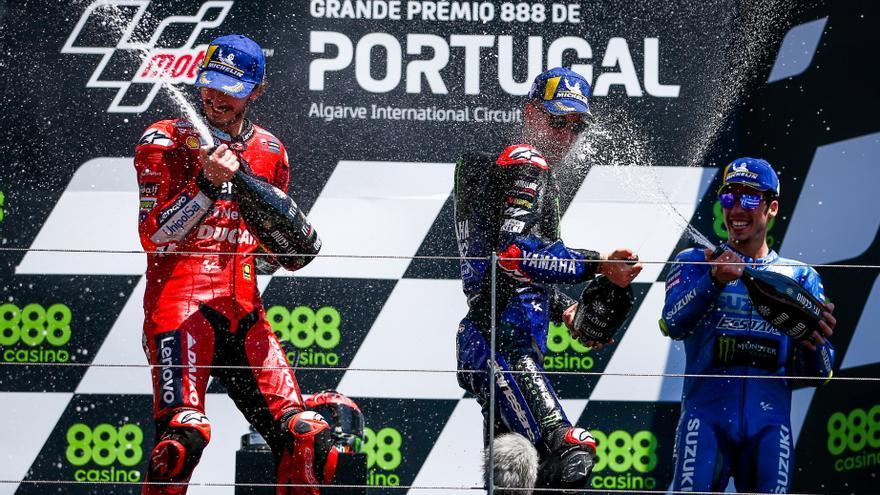 Fabio Quartararo, ganador de MotoGP 2021 en el circuito de Portimao