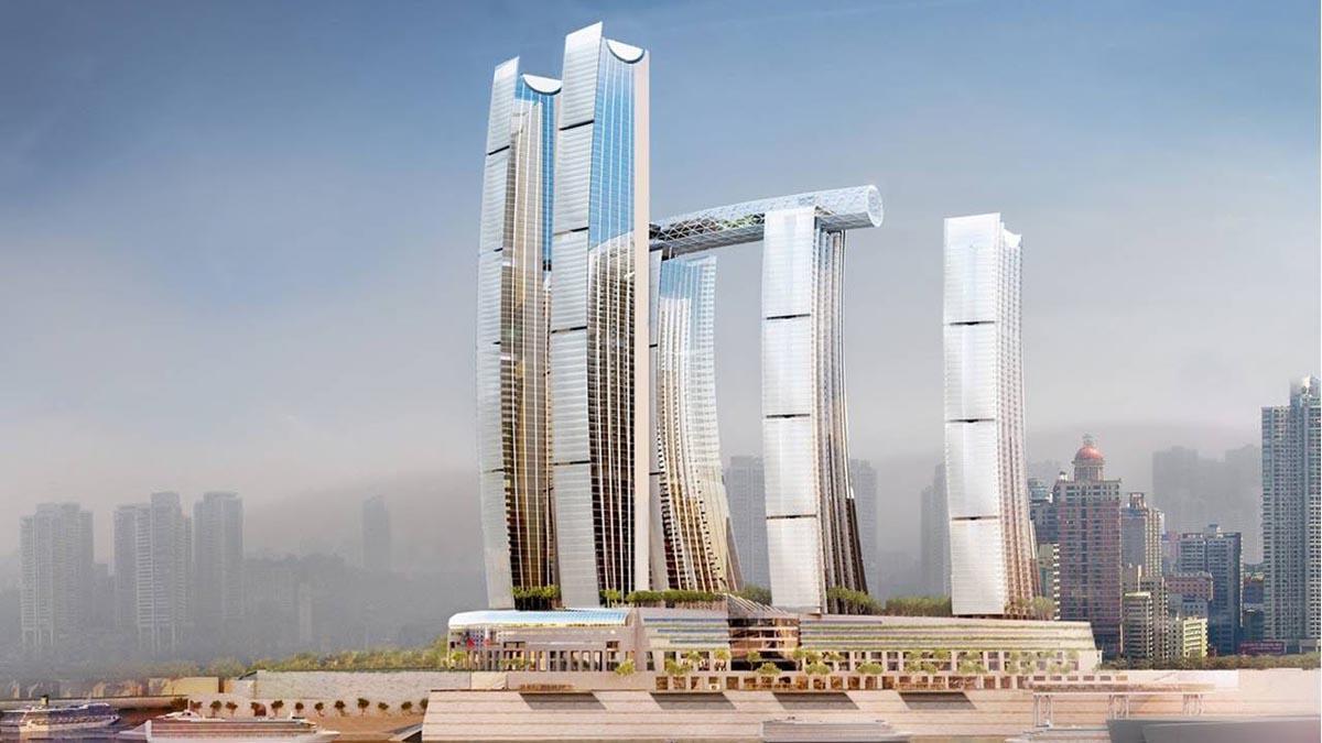 China inaugura el primer rascacielos horizontal a 250 metros de altura