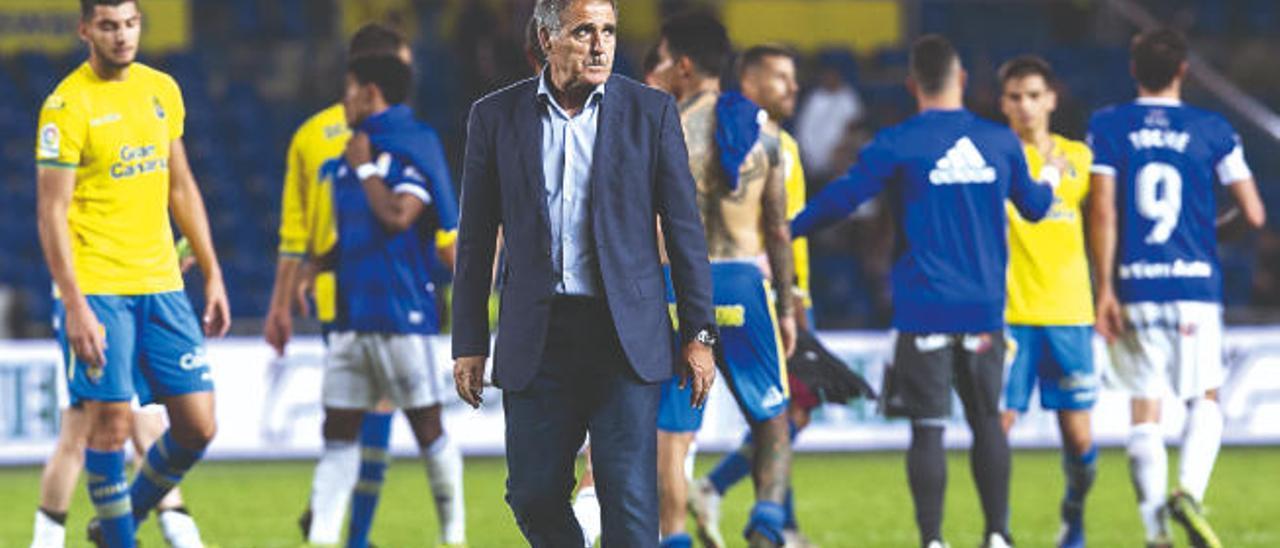 Paco Herrera, tras el empate ante el Oviedo.