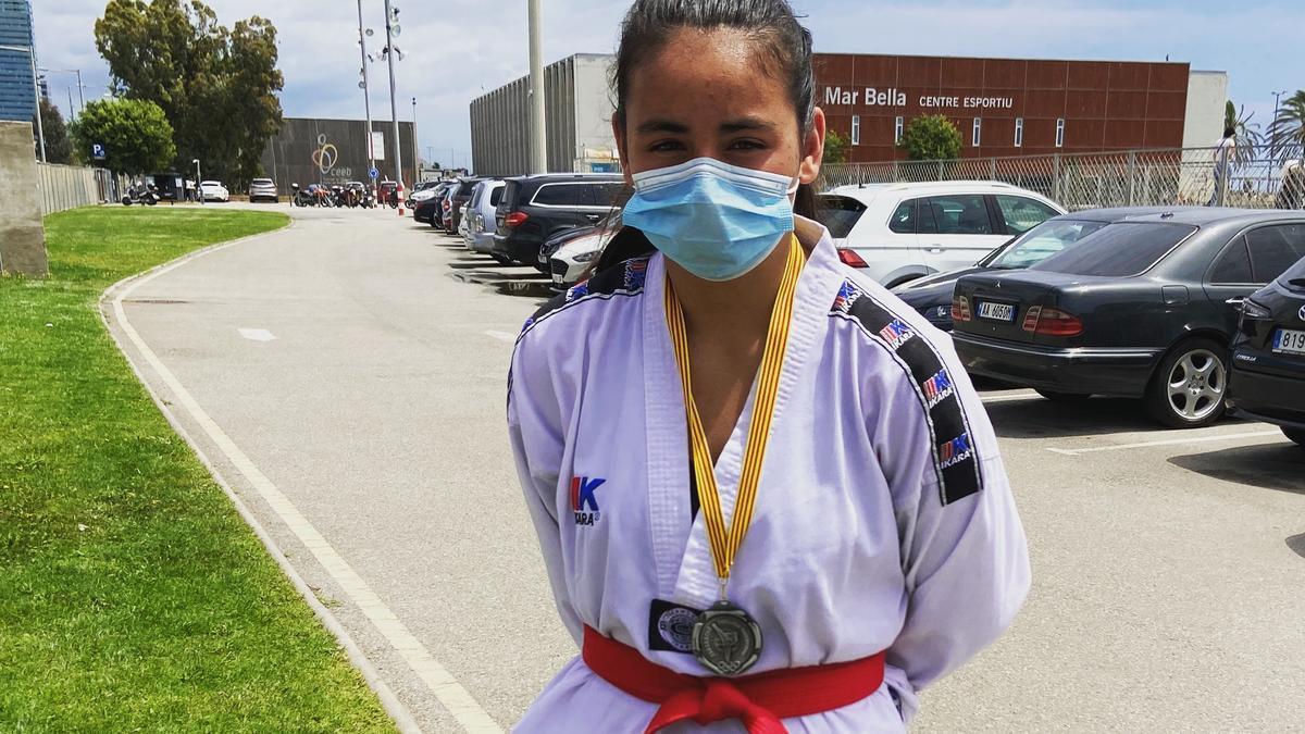 Nayala Silva Rodríguez és representant del Club Ki-Hop Llançà