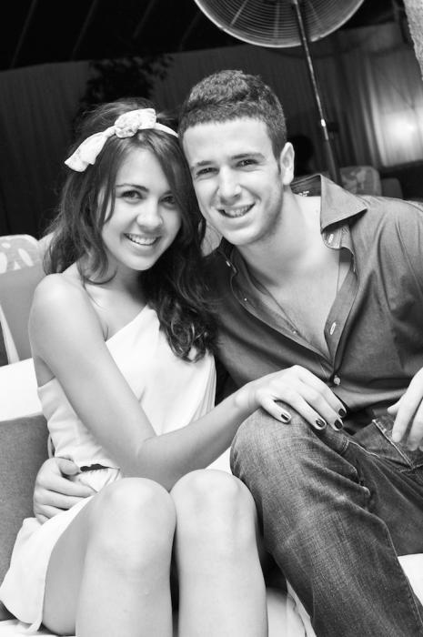 Con su novia en el año 2011.