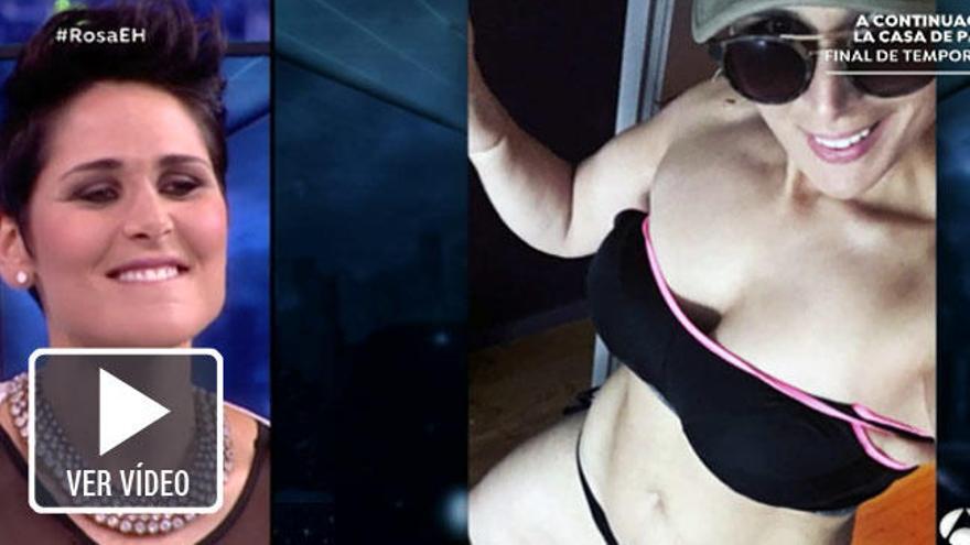 Rosa desvela los secretos de su 'selfie' más atrevido