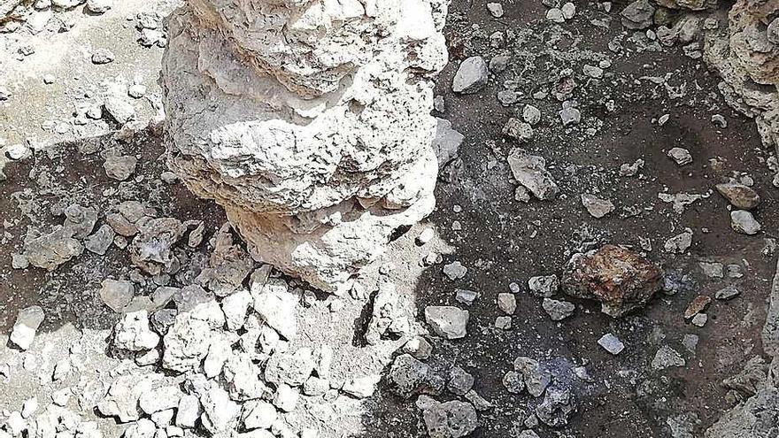 Acto vandálico  en el yacimiento arqueológico  de Son Fred
