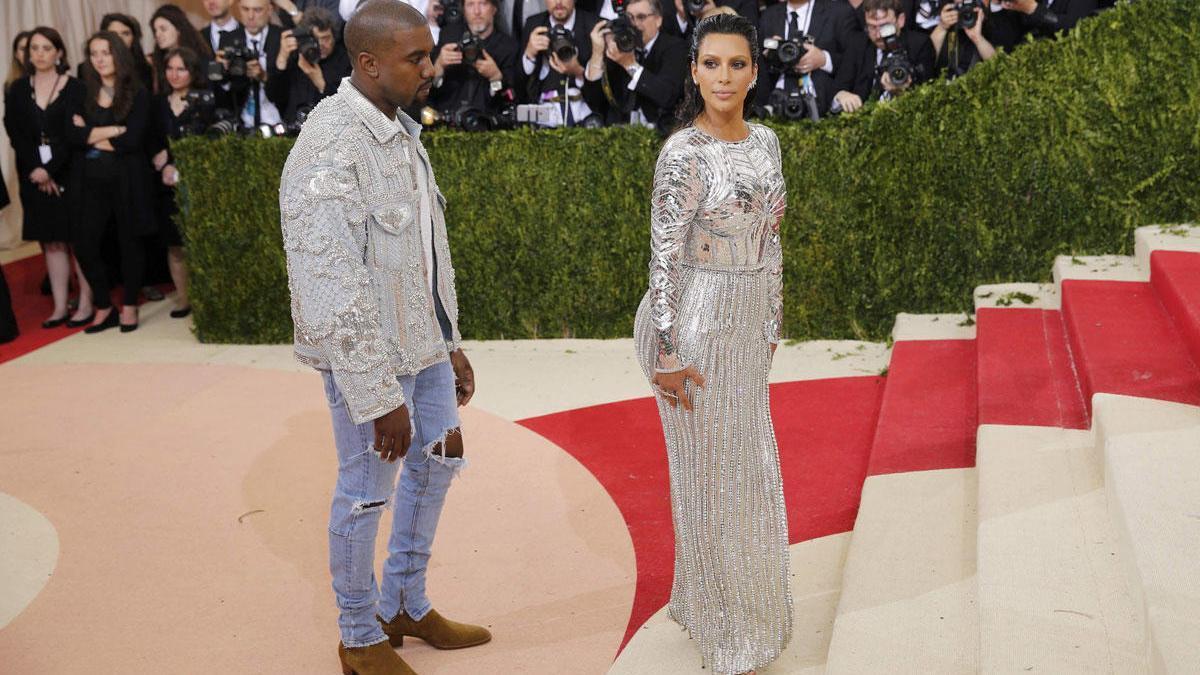 Kim Kardashian y su marido Kanye West.