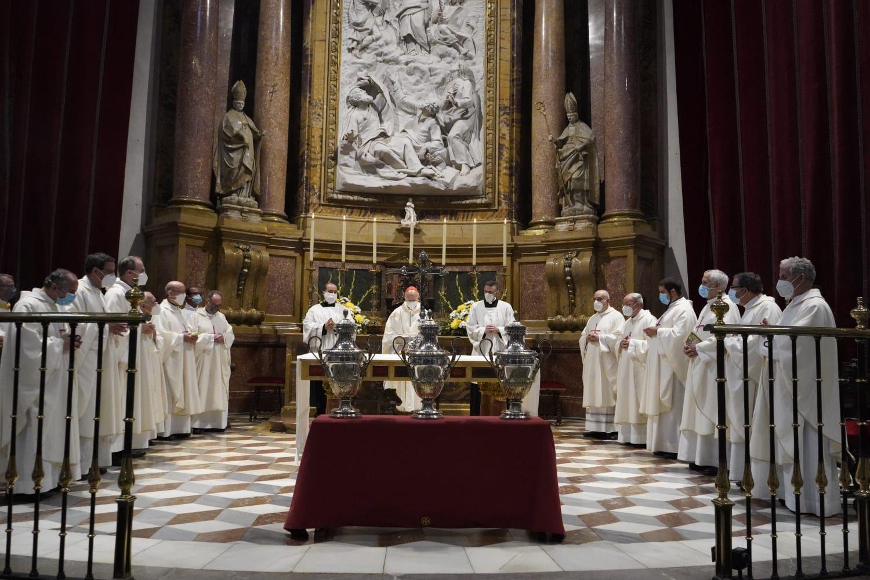 Ricardo Blázquez preside la misa crismal en la Catedral de Zamora