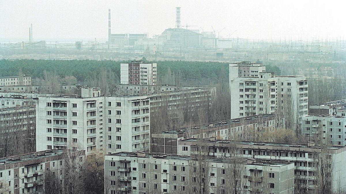 Imagen de Chernóbil tras la explosión en la central nuclear