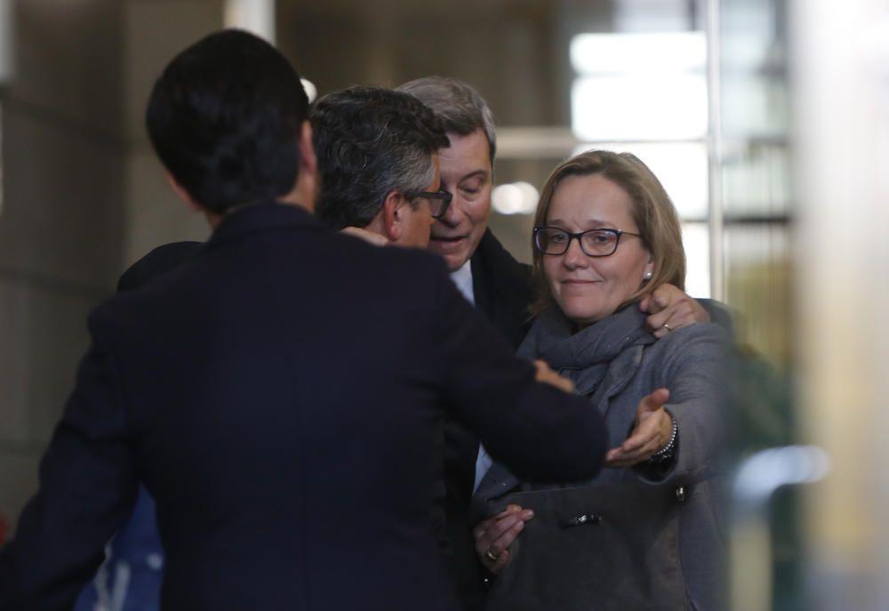 Familiares y amigos de Rita Barberá, a la salida del tanatorio