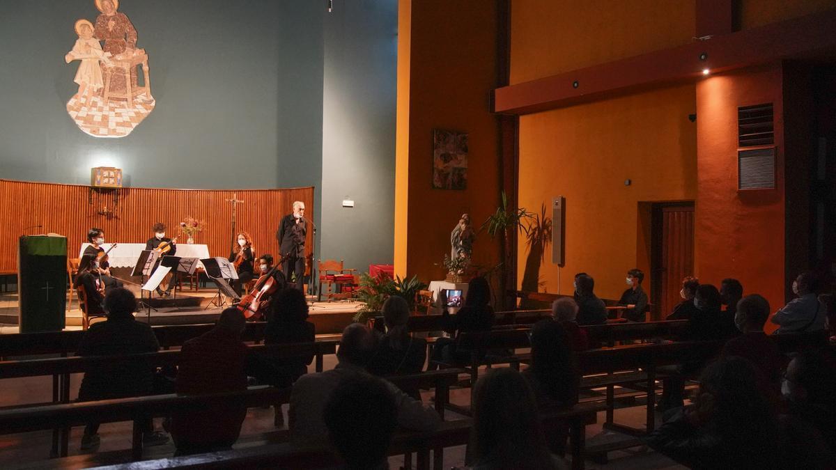 Una actuación de la Joven Orquesta Sinfónica de Zamora, en la iglesia de San José Obrero