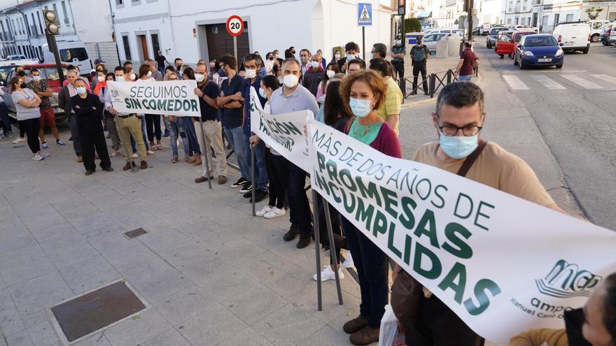 Padres del colegio Manuel Cano de Pozoblanco reclaman la obra del comedor