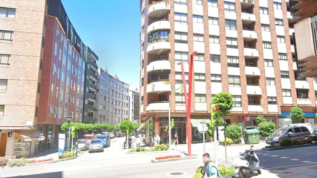 Calle Pintor Laxeiro, en Vigo, donde han ocurrido los hechos.