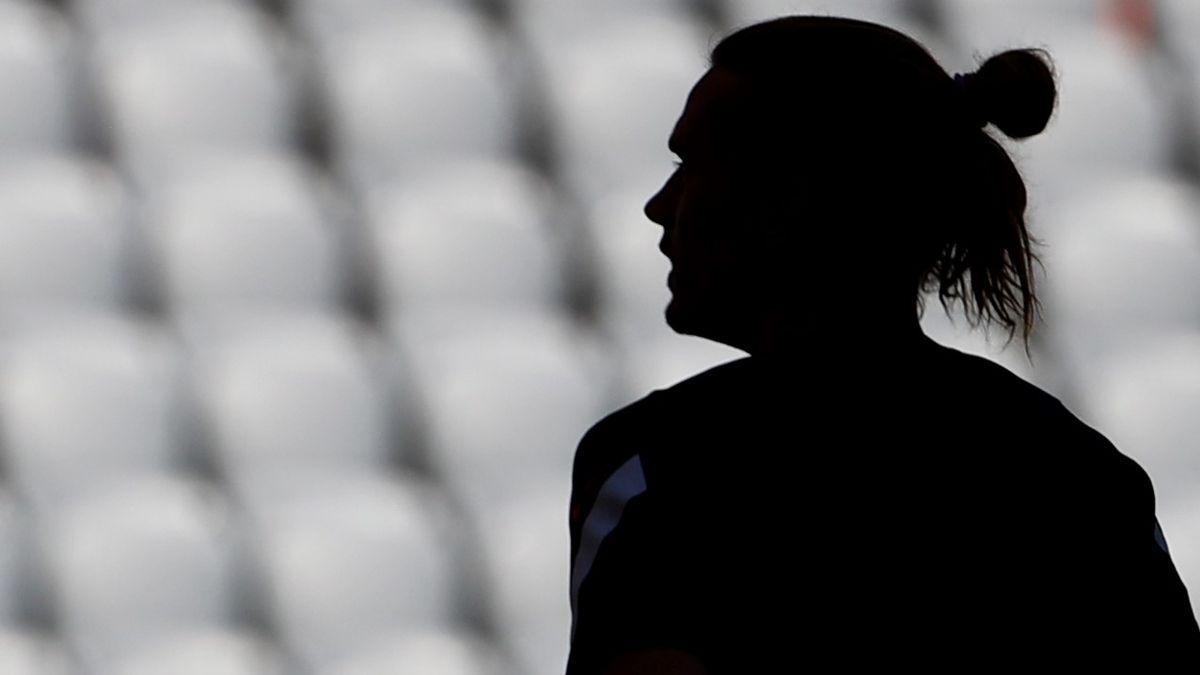 La silueta de Antoine Griezmann en el último entrenamiento de Francia en el Allianz Arena de Múnich