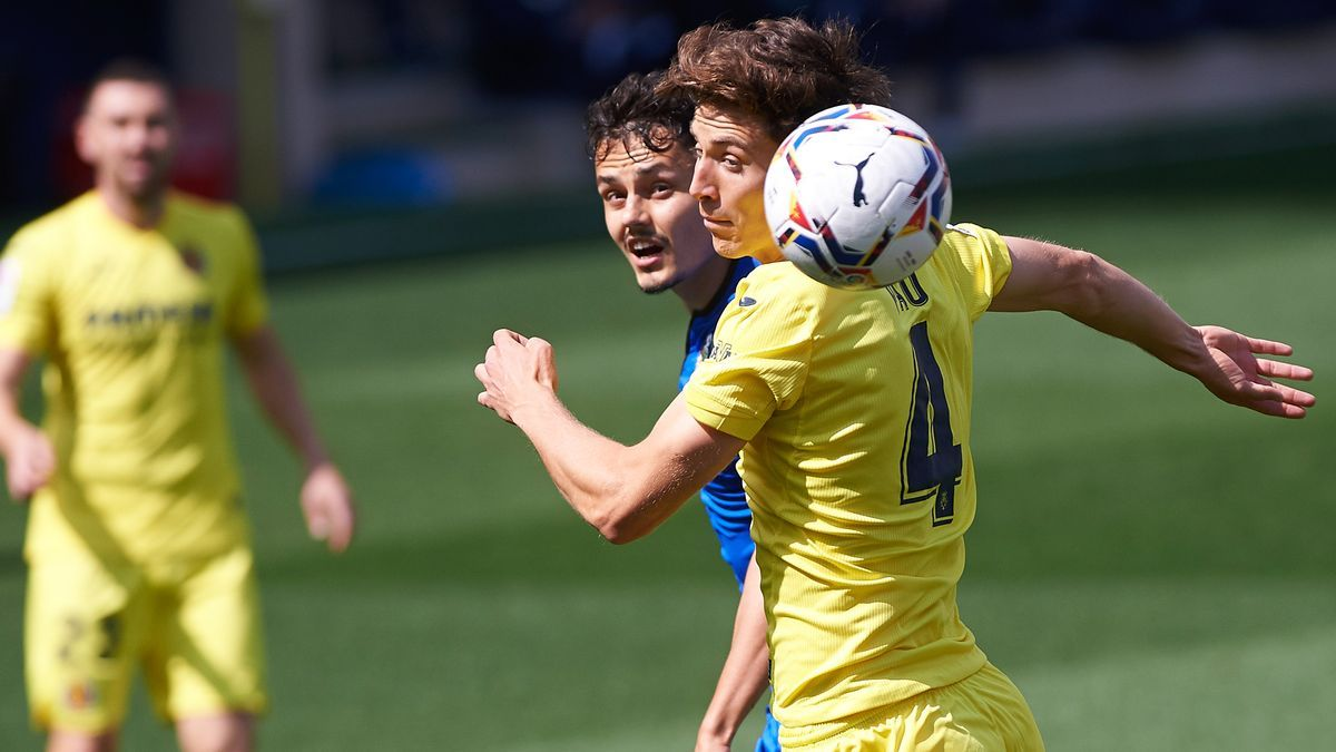 Un lance del partido entre el Villarreal y el Getafe