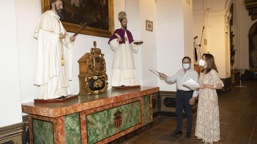 La Diputación de Córdoba recupera cinco tallas barrocas de la iglesia del Palacio de la Merced