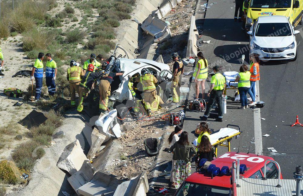 Accidente múltiple en Cieza con al menos dos muertos