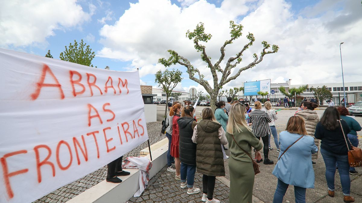 Protesta en Valença, este lunes
