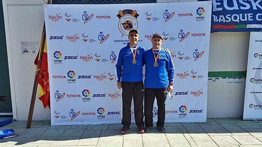 Ernesto López y Bernardo García, campeones de España de veteranos