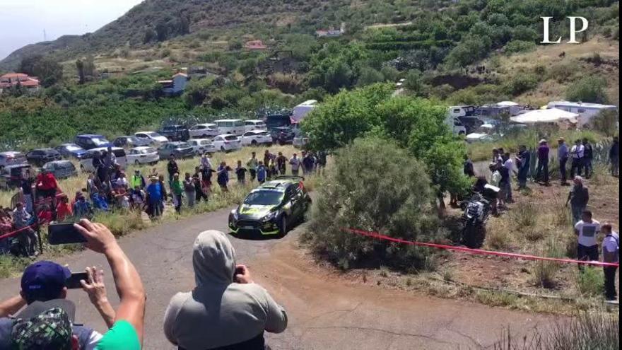 Tramo de calificación del Rally Islas Canarias en Valsequillo