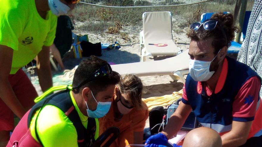 Reaniman dos veces a una anciana en parada cardíaca en Playa de Muro