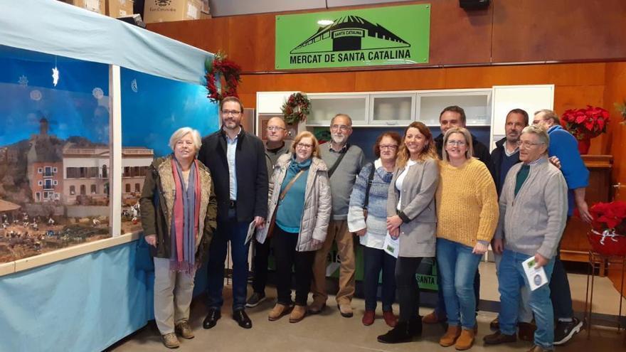 El Mercado de Santa Catalina inaugura la ruta de belenes en Palma