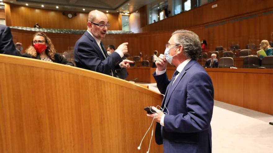 """PP e IU se desvinculan del pacto propuesto por Lambán y critican la visión """"irreal"""" del Ejecutivo"""