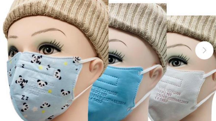 Aviso a los padres: si la mascarilla infantil es FFP2 no está homologada