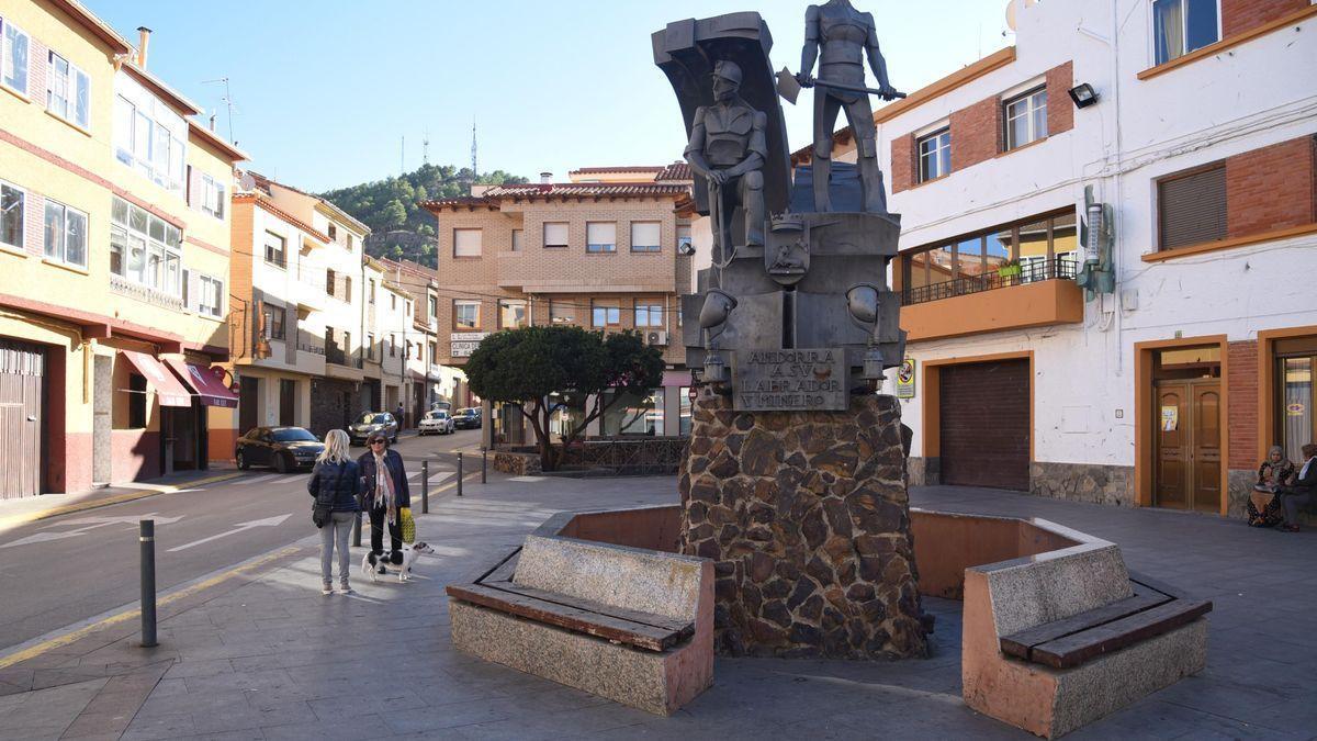 La plaza del Regallo de la localidad turolense de Andorra