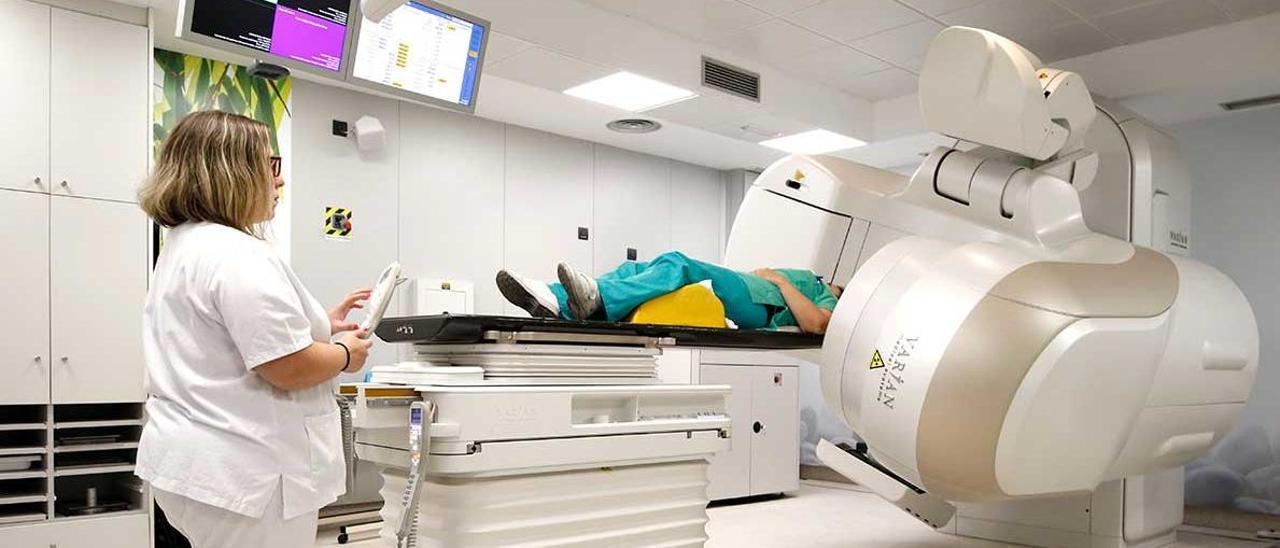 Un paciente en radioterapia