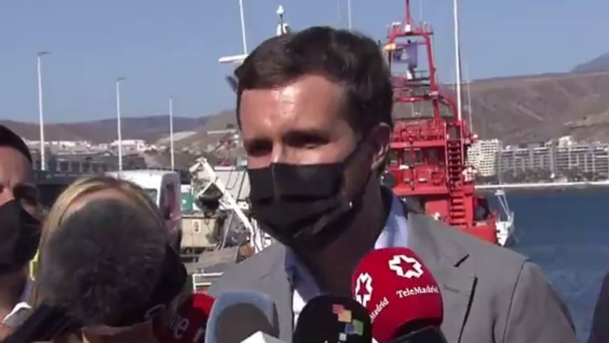 """Casado: """"Sánchez no puede pretender que Canarias sea la Lampedusa y Lesbos de España"""""""