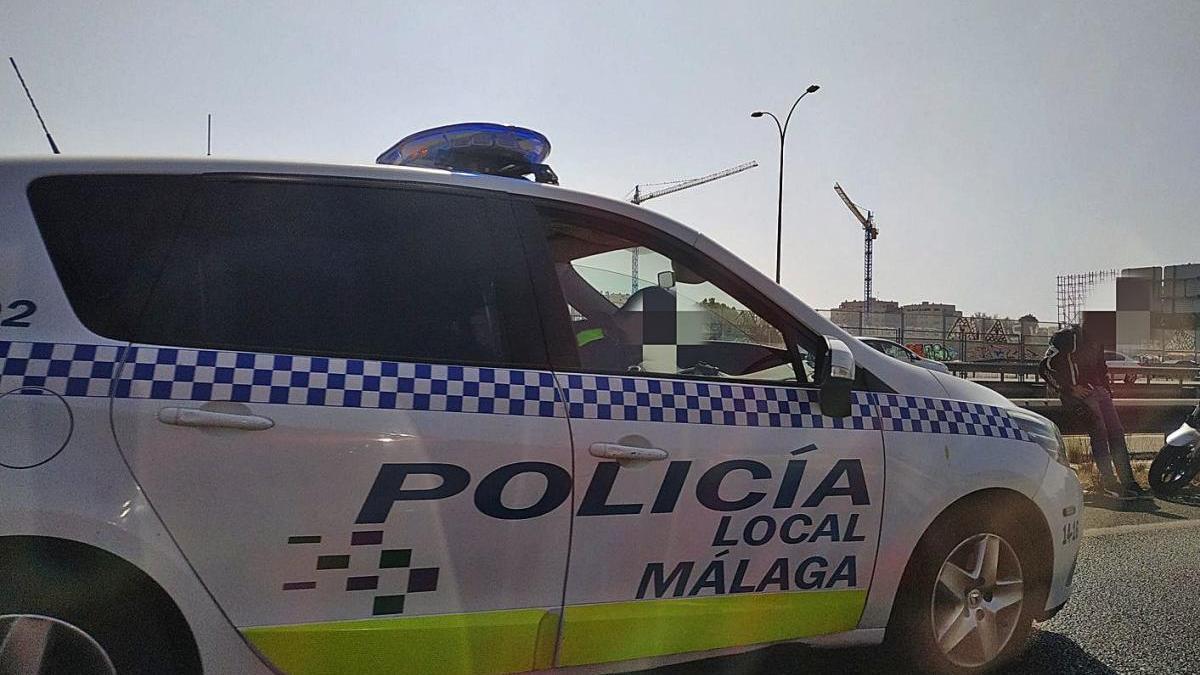 Un coche de la Policía Local de Málaga.