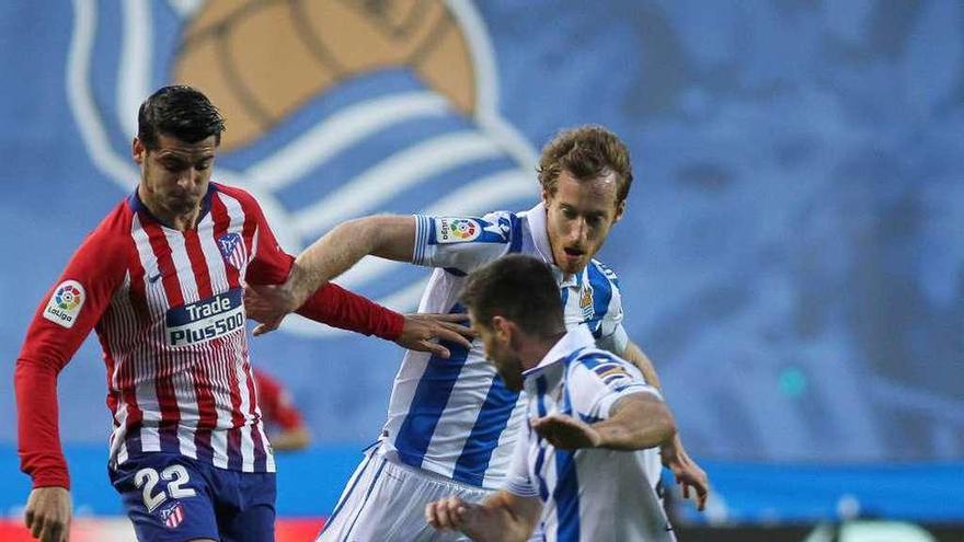 Morata lanza al Atlético de Madrid
