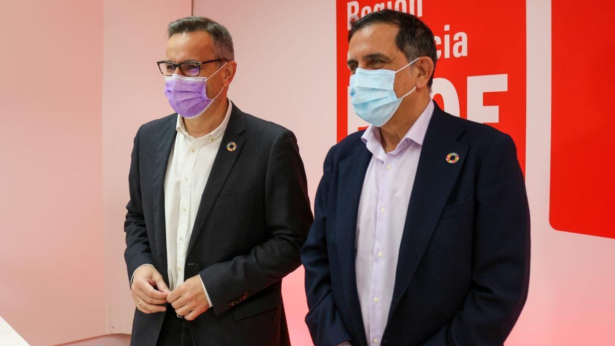 Diego Conesa y José Antonio Serrano.