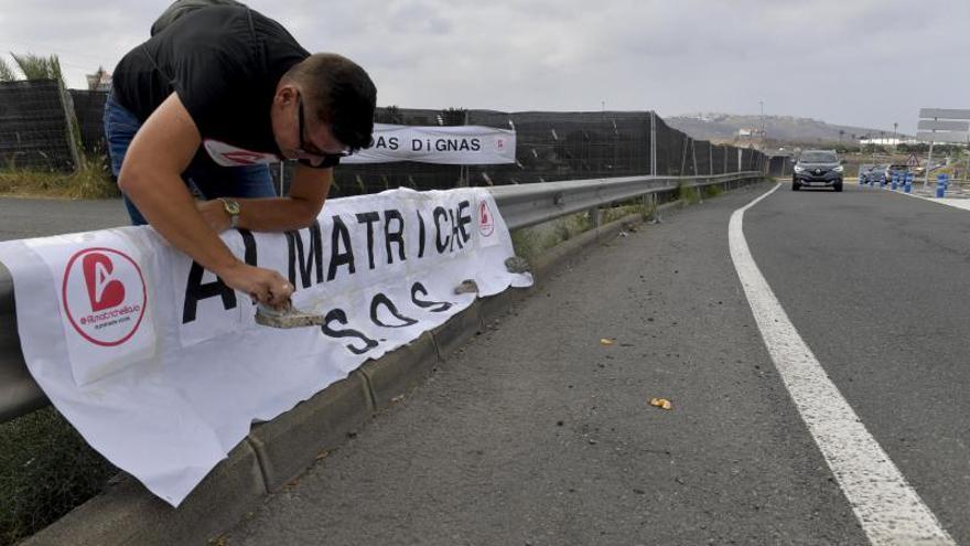 Manifestación de vecinos de Almatriche