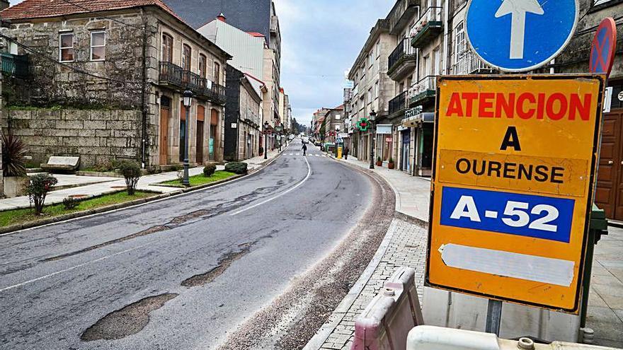 Fomento destina 800.000 euros para reparar la N-120 en A Cañiza
