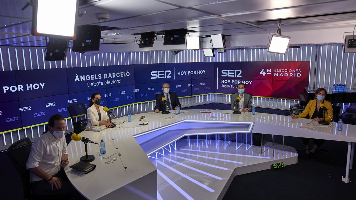 Los candidatos en Madrid, menos Ayuso, en el debate de la SER