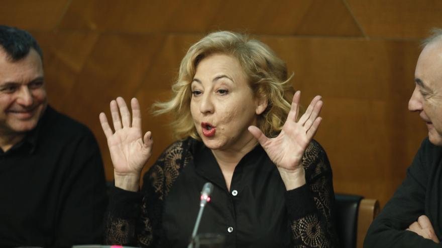 Carmen Machi rueda su próxima película en un campo de refugiados griego