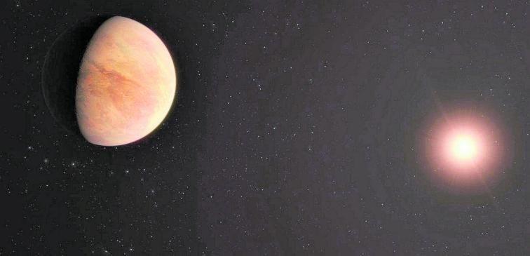Recreación artística del sistema planetario L 98-59. | | IAC