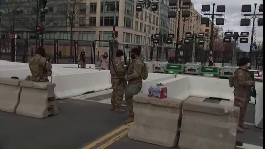 La toma de posesión de Biden convierte a Washington en la ciudad más militarizada del planeta