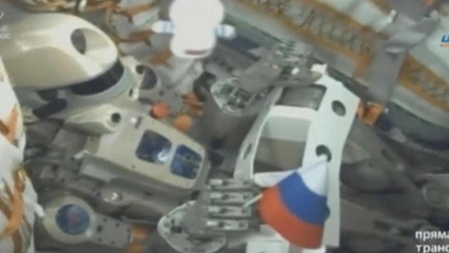 Una imagen del androide Fiódor, único tripulante de la nave.