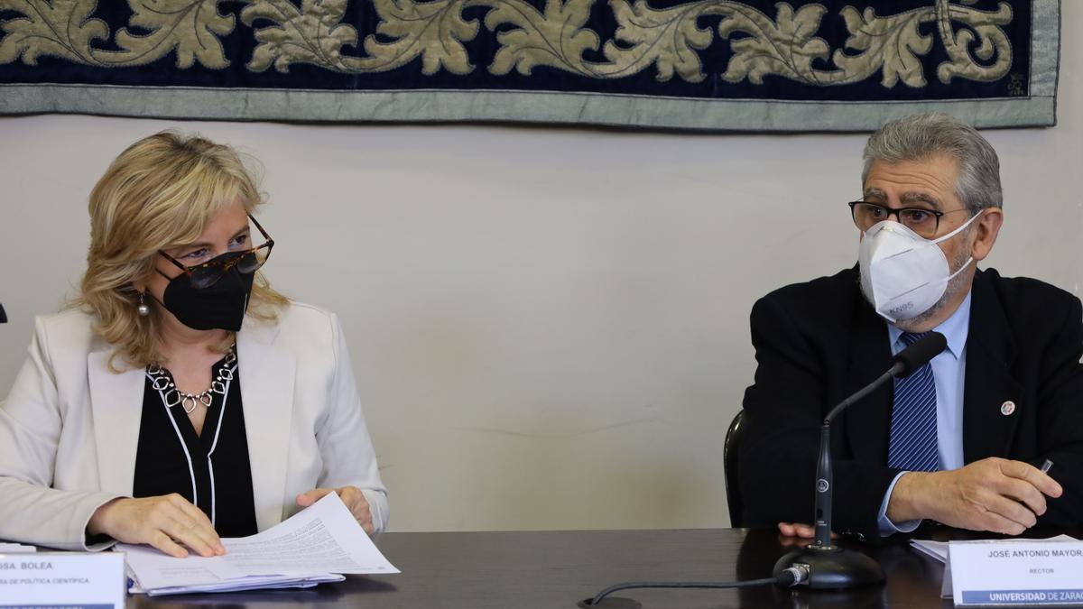 Rosa Bolea y José Antonio Mayoral, este jueves