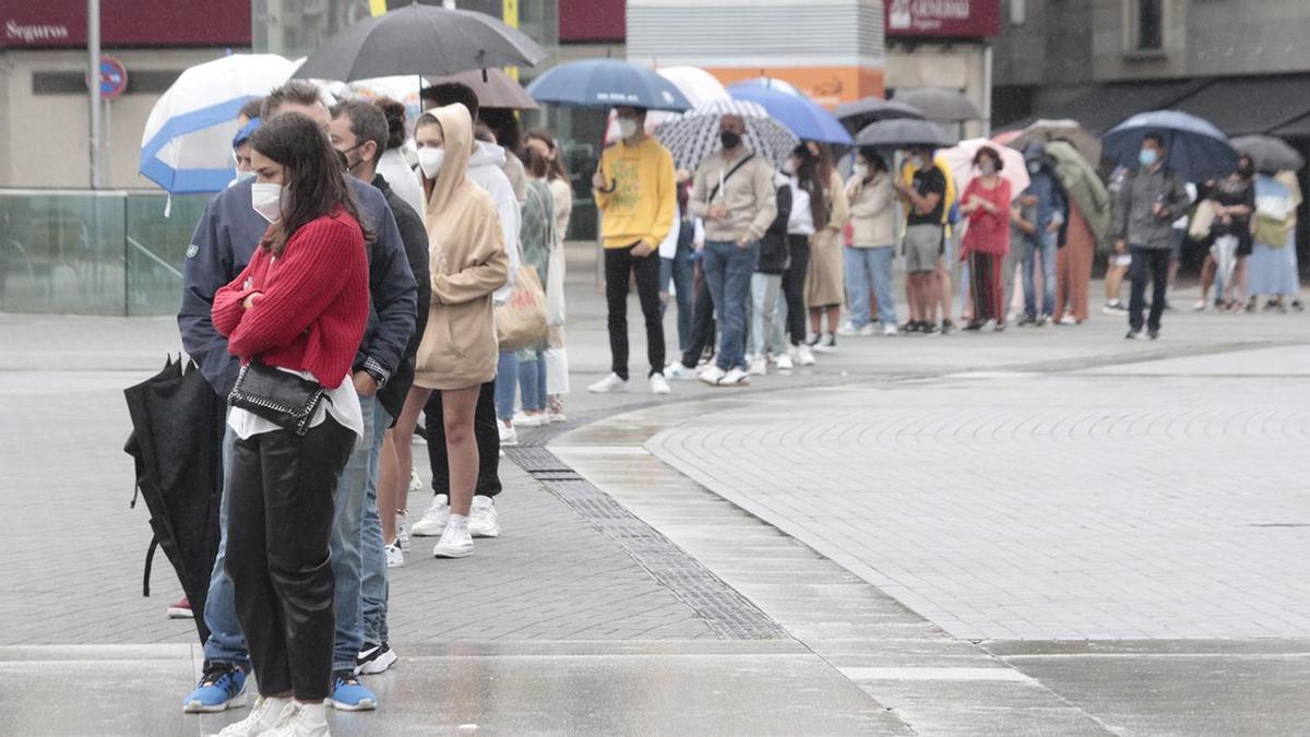 Cribado para jóvenes en Pontevedra, el sábado pasado