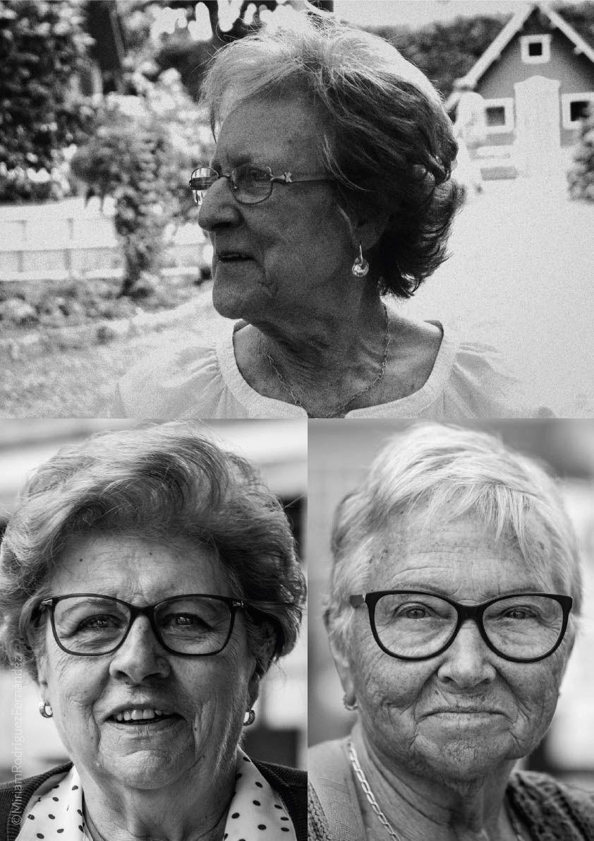 Varios retratos de los que componen el trabajo.